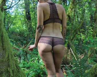 Aubergine Low Rise Lace Panties