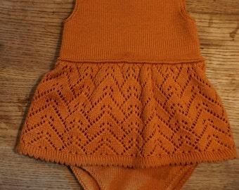 "Machine Knitting ""Baby Body dress"" Pattern PDF DOWNLOAD"