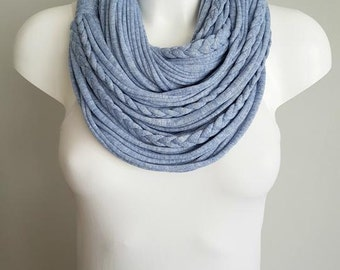 T shirt scarf, t shirt infinity scarf, circle scarf, fabric scarf, cotton fabric scarf