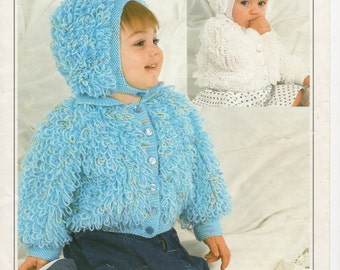Knitting Patterns For Loopy Cardigan : SALE*** Baby KNITTING PATTERNS - Cardigans/Jackets ...