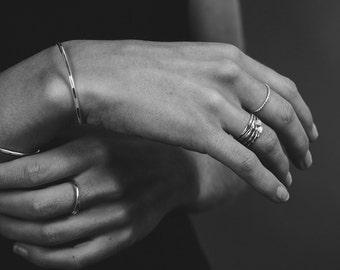 14K Gold Filled Hammered Stacking Cuff Bracelet, Layering Cuffs, Delicate Minimalist Jewelry, Arm Cuff