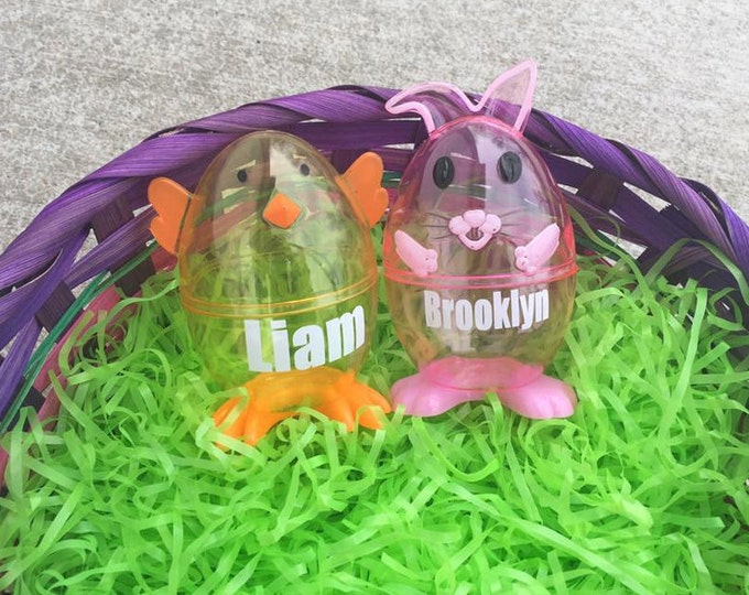 Personalized Bunny Chicken Easter Egg Custom Basket Filler