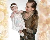 Crochet christening dress, Baptismal set White dress Baby crochet dress Baptism dress baptism gift newborn dress christening gift girl dress