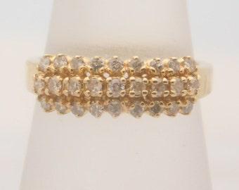 0.25 Carat T.W. Ladies Round Cut Diamond Wedding Band 14K Yellow