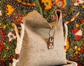 Felt purse with fold over top, Felt Bag, Womans Purse, Felt Handbag, Felt clutch bag, Womans Handbag, Industrial Handbag, Unisex Bag