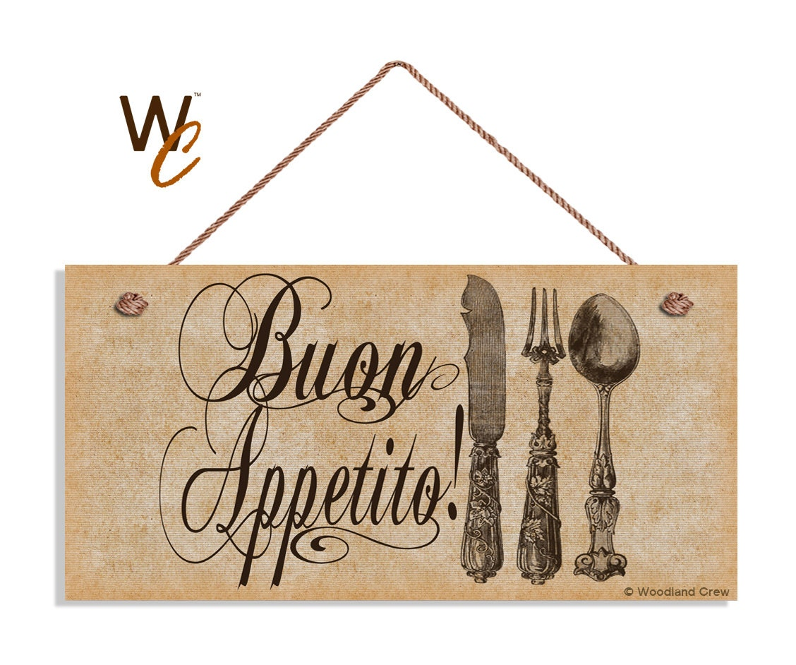 Kitchen Signs For Sale: ON SALE Buon Appetito Sign Vintage Italian Style Kitchen