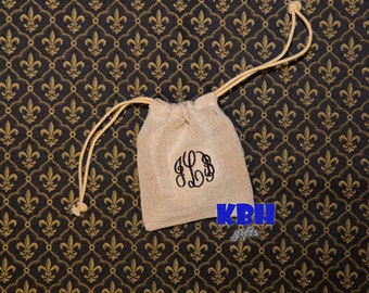 Monogrammed Jewelery Bag / Personalized Bag