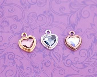 Add a Swarovski Heart Crystal Charm