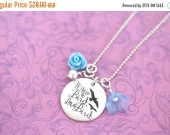 If You're a Bird, I'm a Bird Notebook Necklace - Engraved Jewelry - Custom Engraving - The Notebook