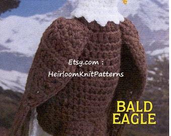 Bald Eagle Crochet Pattern Birds of A Feather Crochet Pattern Instant download Bird Crochet Pattern PDF - 1055