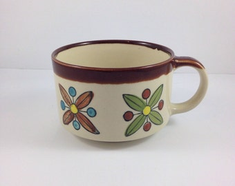 1970s Cup,atomic,Extra Large Coffee Mug, Retro, Stoneware Mug, Large Soup Cup, Pottery Mug, Large Coffee Cup,Large Mug,Coffee Mug,starburst