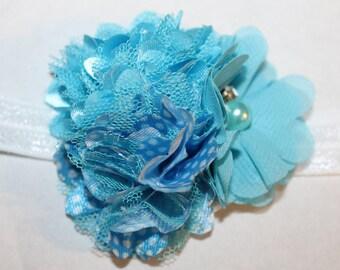 SALE: Baby Aqua Headband, Infant Aqua Headband, Blue Headband, Infant Blue Headband, Baby Blue Headband, Aqua Headband, Photo Prop