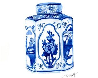 Ginger Jar - Archival Watercolor Print