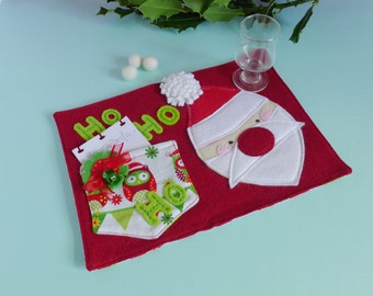 Christmas Eve Box Filler - Christmas Eve Crate Idea - Santa Mug Rug - Father Christmas or Santa Plate Alternative - Christmas Eve Ideas