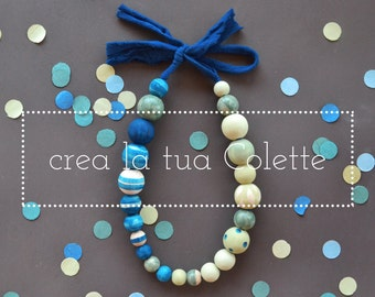 Create your necklace Colette illustrated and painted by hand