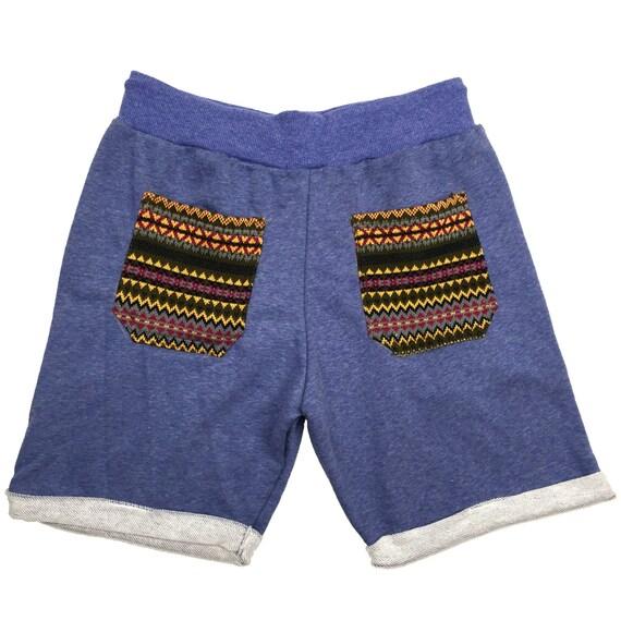 Tribal pocket Shorts, Unisex Shorts, Comfy shorts, Hipster shorts, Casual Summer shorts, Festival Clothing
