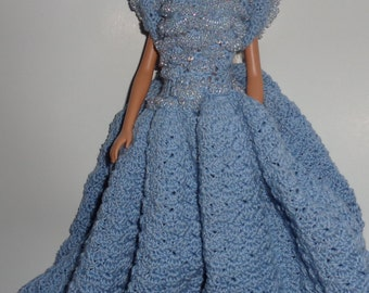 Ball gown for 11 1/2 inch doll