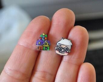 Up ! handpainted earrings