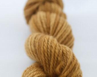 Mustard handspun Australian Corriedale yarn - navajo chain ply
