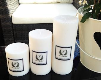 Luxury medium unscented pillar candle, Luxury pillar candle, Natural colour, soy wax pillar candle, Handmade soy Pillar candle, cotton wick