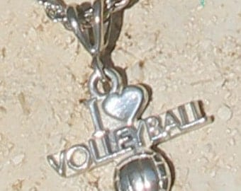 Sterling Silver Volleyball Necklace