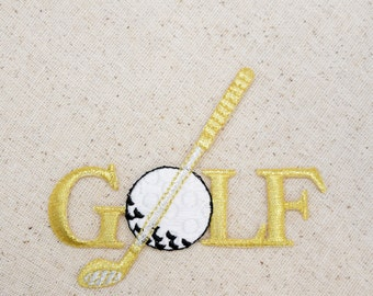 Golf - Club and Ball - Iron on Applique - Embroidered Patch - 230051A