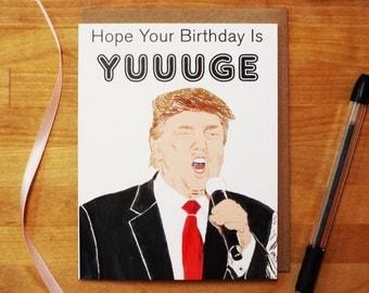 TRUMP - Birthday Card