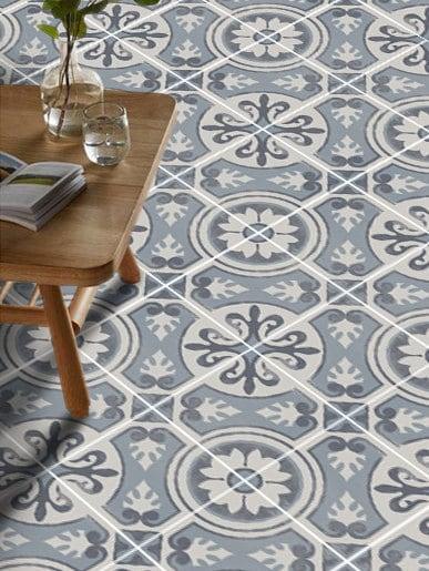 Vinyl floor tile sticker floor decals carreaux ciment - Sol vinyl pour cuisine ...