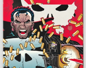The Punisher War Zone 1 NM- Die Cut Cover John Romita Jr March 1992 Marvel Comics Book Gifts for Him Her