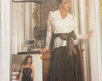 Simplicity 7163 - Lace Camisole and Blouse with Pleated Skirt and Sash - Size 10