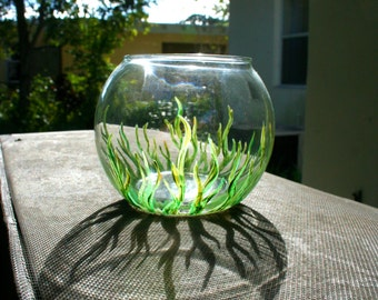 Painted Beta Fish Bowl