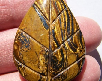 Tiger Eye/Tiger Iron pendant bead 35x26mm