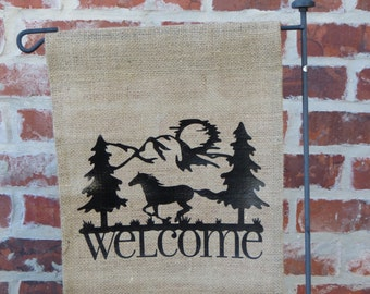 Horse Welcome Flag