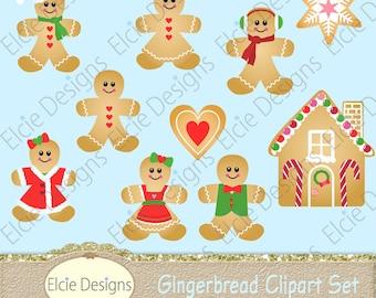 Gingerbread Clipart Set - Instant Download