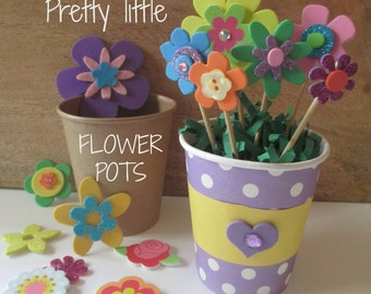 Flower Pot, DIY Party Craft, Party Supplies