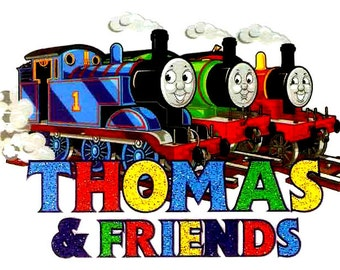 3.5 X 2.25 inch THOMAS Henry James Thomas & Friends Heat Iron On TRANSFER ~ railway train track railroad cartoon locomotive steam engine