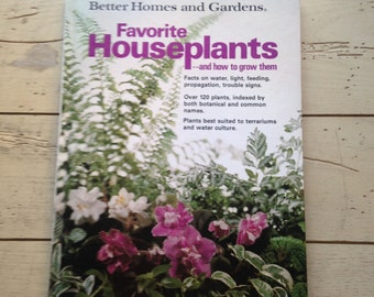 Houseplants Better Homes and Gardens Vintage 1976 Book