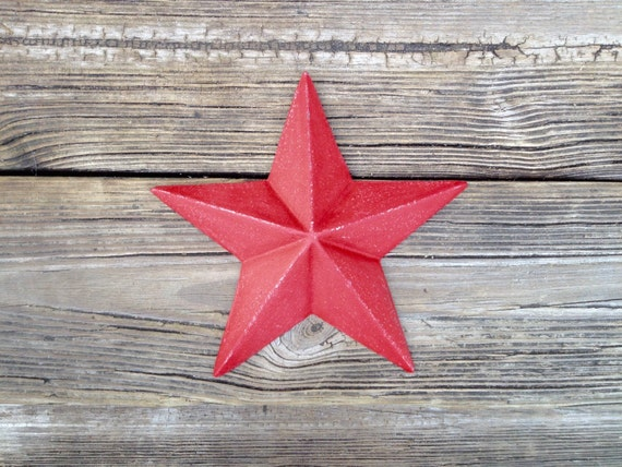 Red Country Wall Decor : Rustic red cast iron barn star country wall decor nautical man