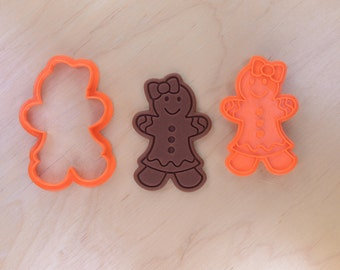 Gingerbread Girl Cookie Cutter and Stamp Set