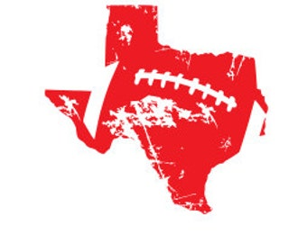 Distressed Texas Football SVG DXF Cutting File