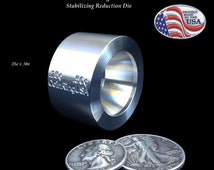 """25 cent & 50 cent """"STABILIZING""""/Folding/Reduction Die for Folding the US Quarter and the Half Dollar to Make Coin Rings"""