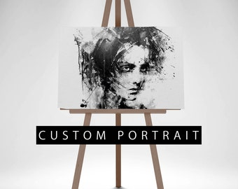 An Original Acrylic Portrait, Personalized painting, Custom portrait painting from your photo, Custom Ink Painting, Personalized Painting