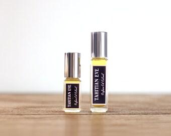 TAHITIAN EVE • Tropical Perfume Oil Extrait • Gardenia, Pikake Tuberose, Jasmine, Tuberose, Peach Nectar, Coconut, Tropical Breeze