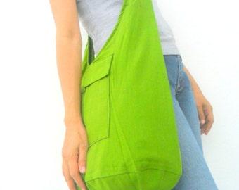 Shoulder Bag Bohemian Bag Messenger Bag Crossbody Bag Sling Thai Hippie Hobo Bag Boho Purse Green Color Sling Gift Bag