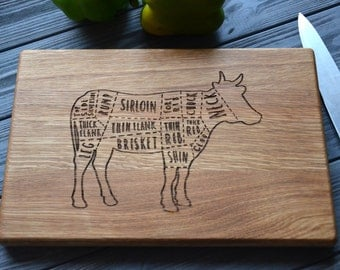 Monogram Serving Board Wooden Cutting Board Meat Housewarming gift Farmhouse Kitchen Decor Home Custom Engraved Gift for Parents Friends