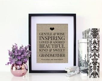 Mother's Day Grandma Gift from Kids | Birthday Gift for Grandmother | Birthday Gift from Kids | Grandmother Gift | Grandparents Gift