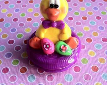 Handmade Polymer Clay Easter Chick Figurine