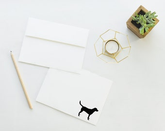 Black Lab Stationery - Set of 12 Correspondence Cards