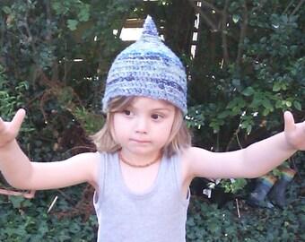 Child size Pixie Hat! Toddler/Pixie/faerie/woodland/Elf/festival/hand crocheted hat!