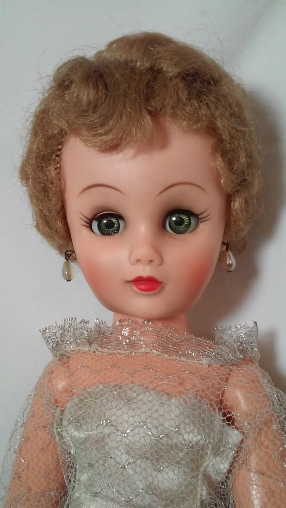 Antique Haunted Doll Hard Plastic Vintage 19 Tall Bride